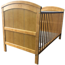 iSafe Liam Cot Bed - Antique Pine (x6 PCS With Teething Rails)