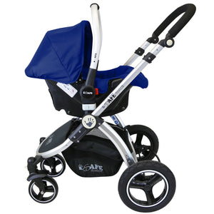 iSafe 3 in 1 Pram Travel System - (Navy All In One)