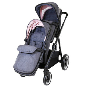 iSafe Tandem Double Pram Travel System - Cookie