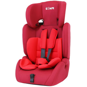 iSafe Value Comfort Baby Car Seat Group 1 2 3 Junior Trio Booster Seat - (Red)