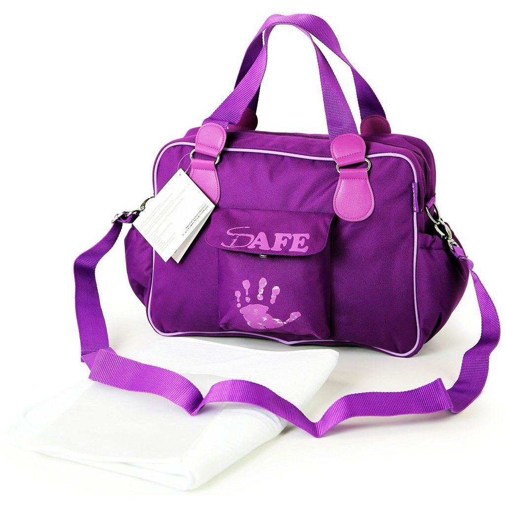 i-Safe Luxury Changing Bag - Plum