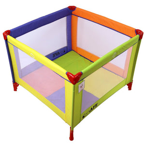 iSafe Zapp And Nap 101cm x 101cm Luxury Square Travel Cot Playpen Mixed Color (Multicolored)