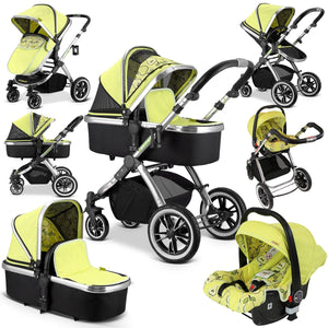 3 in 1 iVogue Pram System - Pears (Including Carseat)