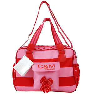 Pink Dots, Large Zeta Luxury Complete Changing Bag with Changing Mat