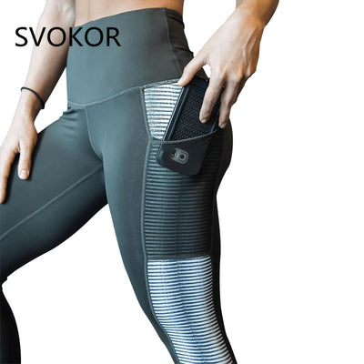 611f8c482e Quick View · 2019 NEW Pocket High Waist Leggings Women Fitness Workout  Activewear Printing Trouser Fashion Patchwork Push Up ...