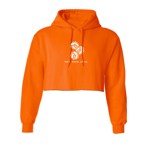 try your luck orange hoodie