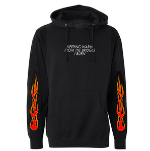 burning bridges hoodie