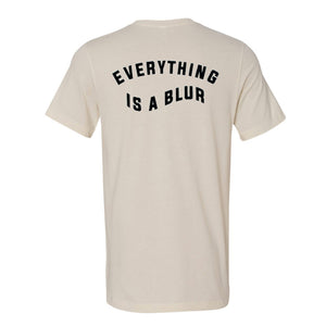 everything is a blur sand t-shirt