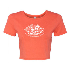 Ain't weak orange crop top