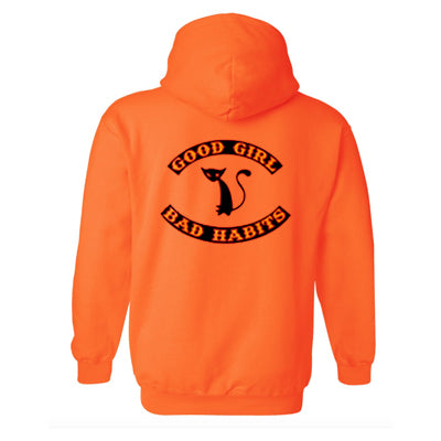 good girl bad habits orange hoodie