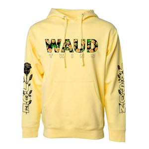 "Waud Twins ""Floral"" Hoodie in Yellow"
