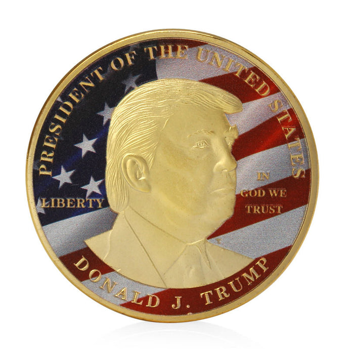 Golden Donald Trump Coin - Make Great President America Commemorative Challenge Coin