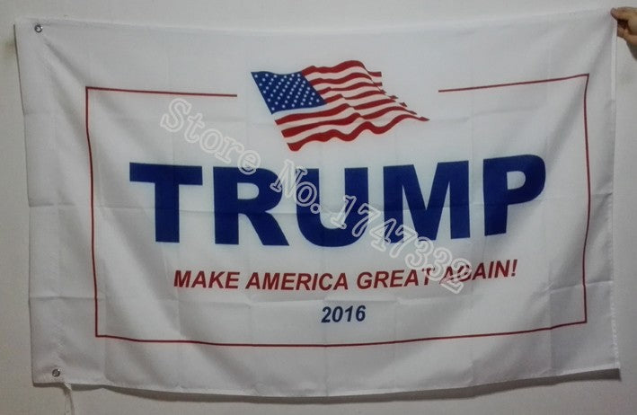 Donald Trump 2016 Make American Great Again Banner Flag - 3X5 FT  With brass metal holes