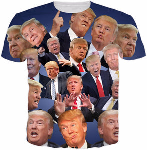 Donald Trump Paparazzi T shirt short sleeve Trump t shirt high quality casual tops funny Trump clothing drop ship