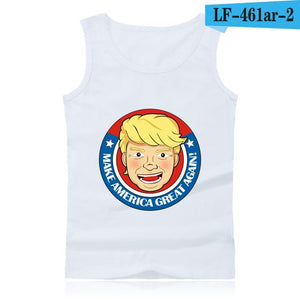 Donald Trump Sleeveless Summer Tank Top Casual High Quality