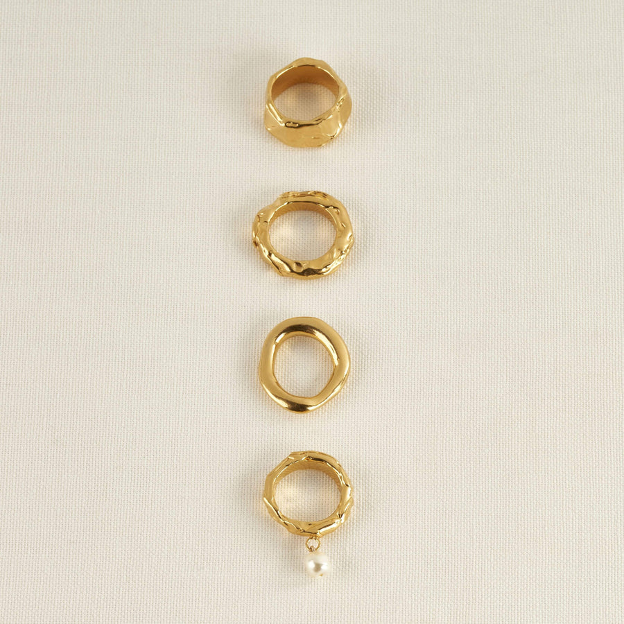 ASH RING IN GOLD AND SILVER
