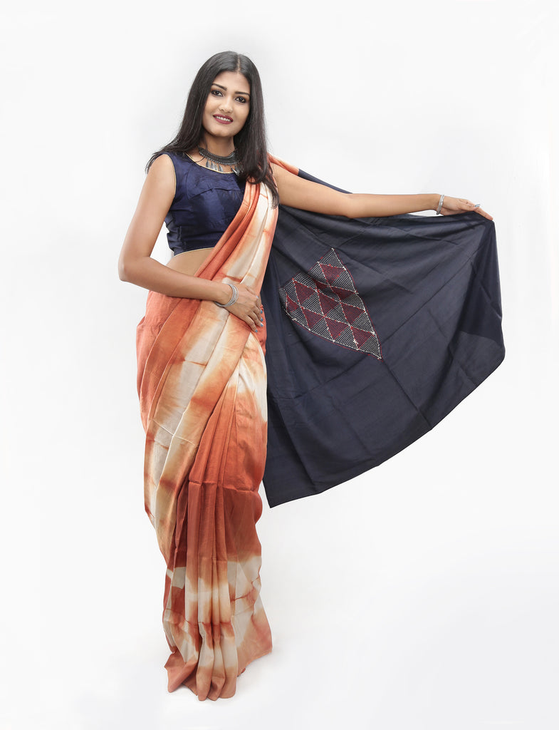 Living Blue Saree: Design-006