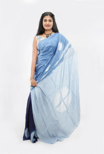 Living Blue Saree: Design-013