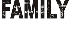 Family Collage of Words