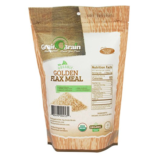 Golden Flax Seed Meal, Organic,12 Oz
