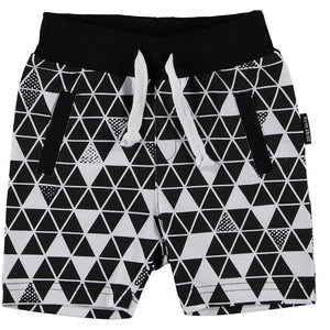Black and White Geometric Shorts