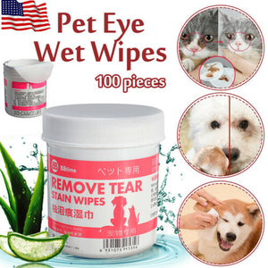 Pet Eye Grooming Wipes (100 pcs)