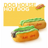 Hot Dog House Bed With Removable Cushion & Waterproof Bottom