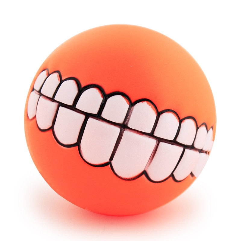 Silly Teeth Squeaker Ball