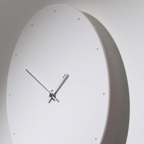TOO designs white on white minimalistic wall clock designed in Melbourne by TOO Designs