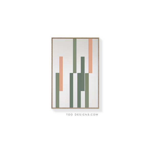 Standard Rectangular canvas & Collection 9H: Forest, Eucalyptus, Salmon