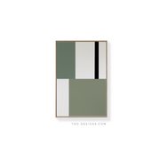 Standard Rectangular canvas & Collection 1E: Eucalyptus, Forest, Black