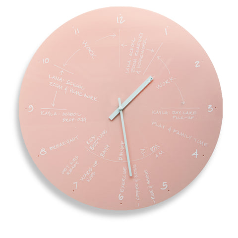 TOO Designs TOO do day planner clock in pink for time blocking