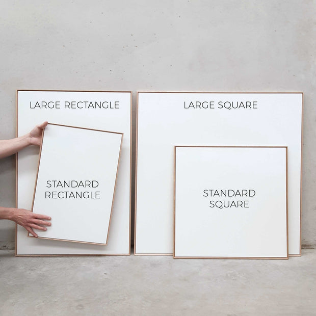Standard Square canvas & Collection 9A: Black, Slate Blue, Cement