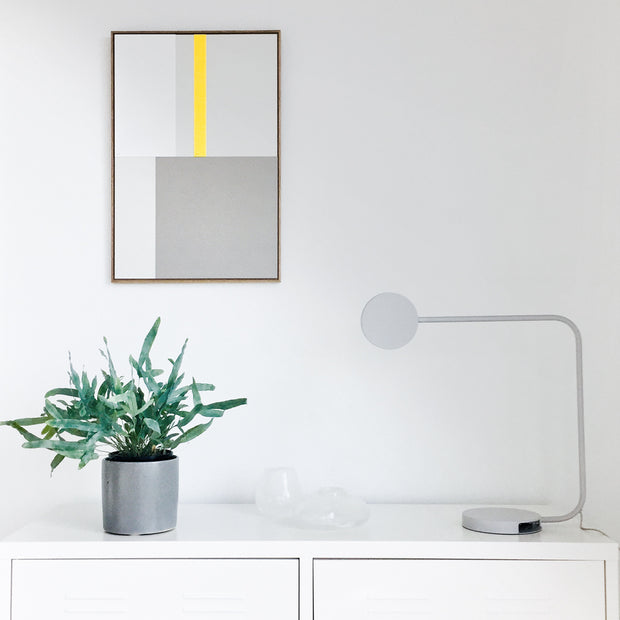 Standard Rectangular canvas & Collection 1K: Lemon, White, Cement