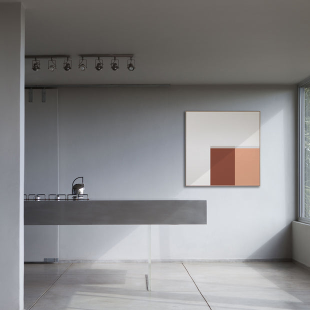 Large Square canvas & Collection 3F: Salmon, Oxide, Cement, Stone