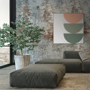 Large Square canvas & Collection 8H: Salmon, Eucalyptus, Forest