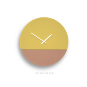 TOO TONE CLOCK Large: Lemon, Salmon
