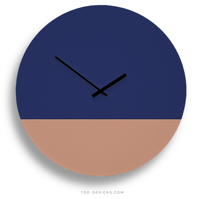 TOO TONE CLOCK Extra Large: Cobalt, Salmon