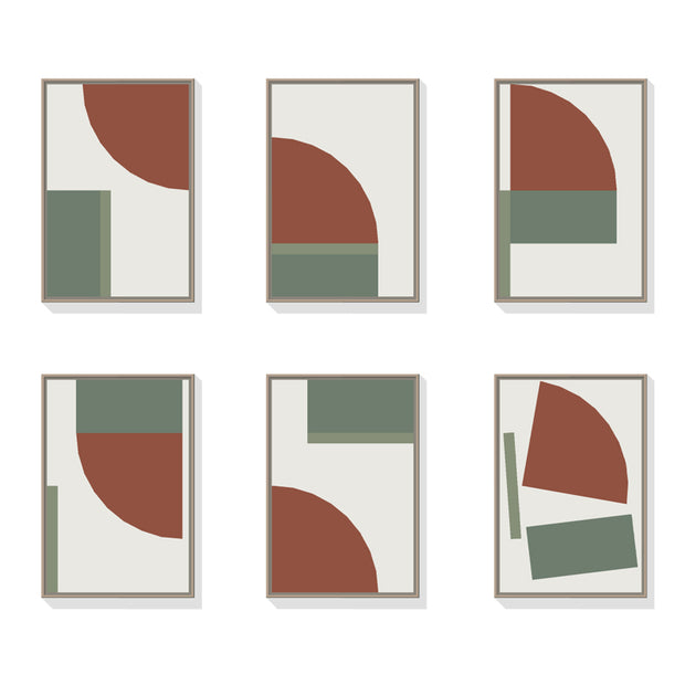 Art Collection 2B: Oxide Red, Forest Green & Eucalyptus Green