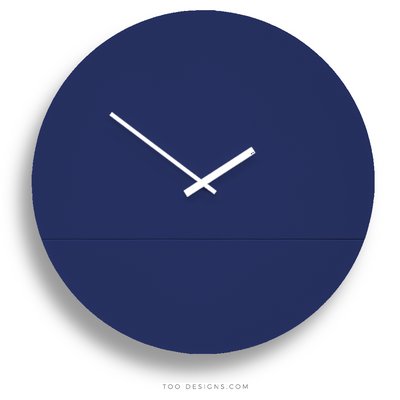 TOO TONE CLOCK Extra Large: Cobalt, Cobalt