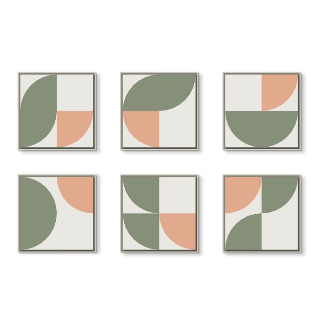 Standard Square canvas & Collection 6H: Eucalyptus, Salmon