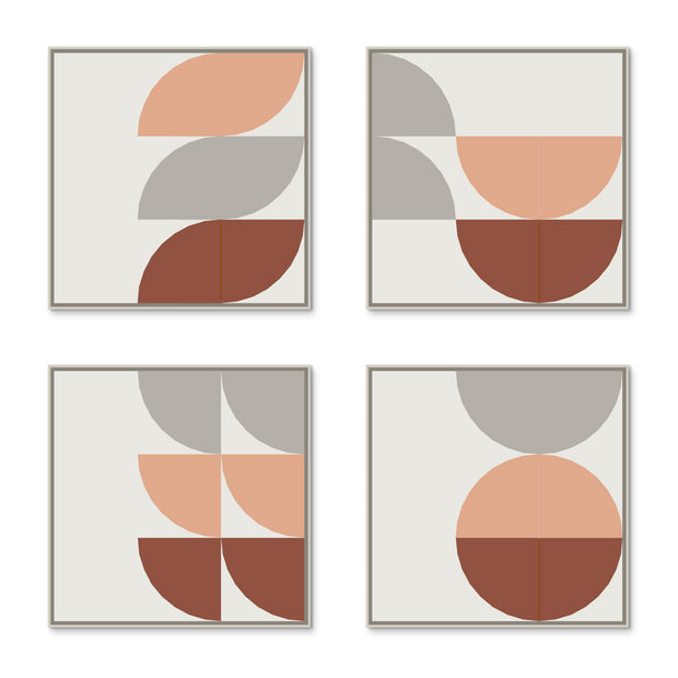 Large Square canvas & Collection 8F: Stone, Salmon, Oxide