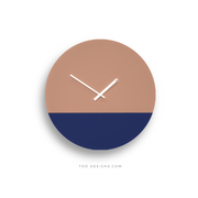 TOO TONE CLOCK Large: Salmon, Cobalt