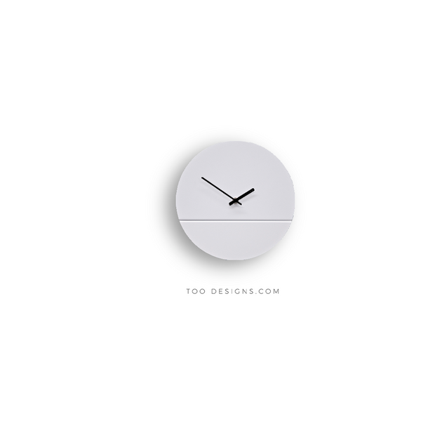 TOO TONE CLOCK Standard: White, White
