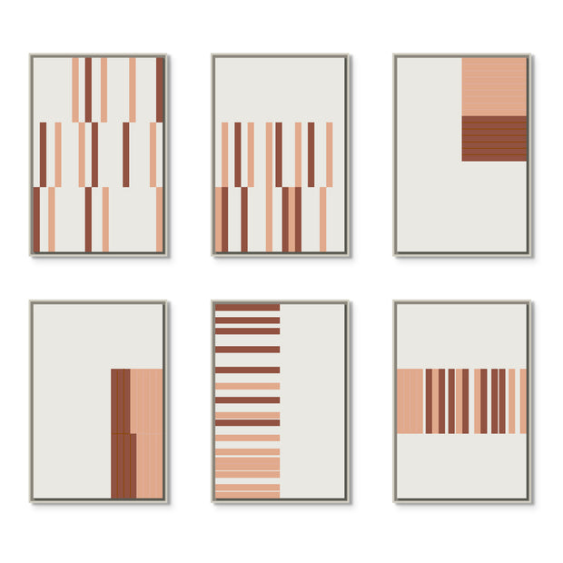 Large Rectangular canvas & Collection 10F: Salmon, Oxide