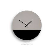 TOO TONE CLOCK Large: Stone, Black