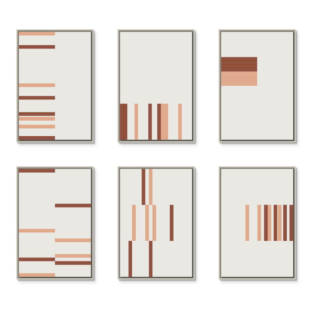 Large Rectangular canvas & Collection 9F: Salmon, Oxide
