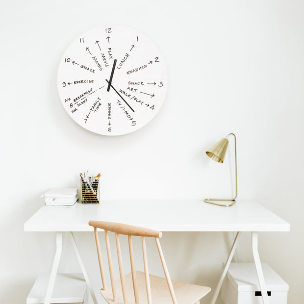 TOO designs TOO do day planner clock used as planning tool in a home office