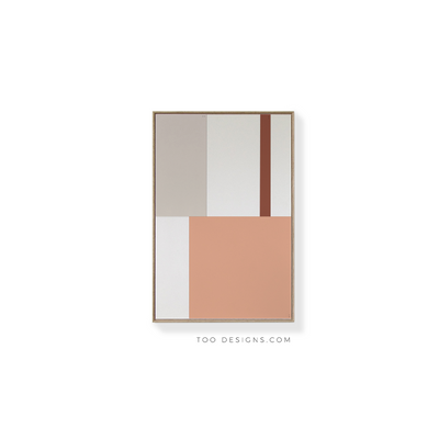 Standard Rectangular canvas & Collection 1F: Salmon, Oxide, Stone