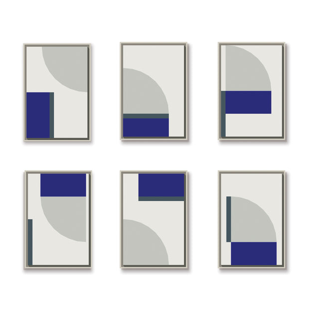 Standard Rectangular canvas & Collection 2J: Cement, Cobalt, Slate Blue